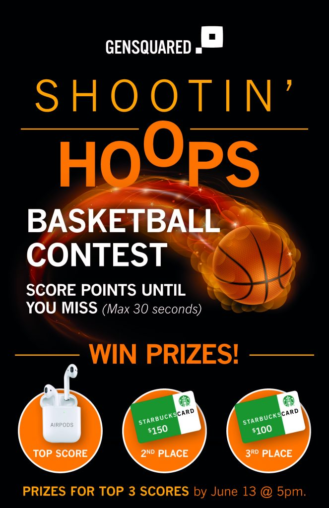 Big Data Toronto 2019 - Gensquared Booth D2 - basketball contest for prizes